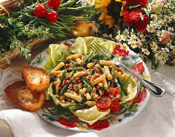 Wachsbohnen-Salat mit Senf-Speck-Marinade Rezept
