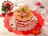 Waffelturm mit Erdbeer- Sahne-Füllung Rezept