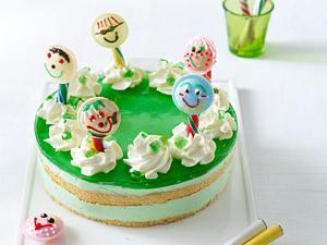 Waldmeister-Torte mit Brause-Lollies (Kinder-Geburtstagstorte) Rezept