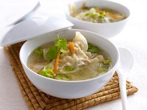 Wan Tan in Hühnerbrühe Rezept