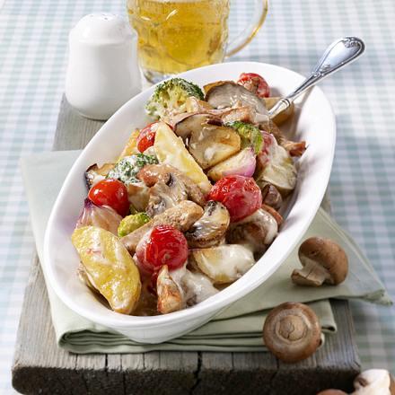Warmer Pilz-Kartoffelsalat Rezept