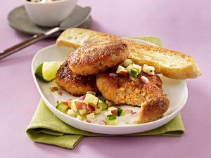 Wasabi-Frikadelle mit Gurken-Apfel-Salsa Rezept