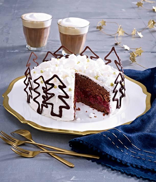 weihnachtliche kirsch torte rezept lecker. Black Bedroom Furniture Sets. Home Design Ideas