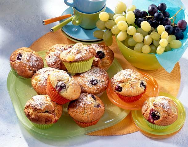 weintrauben muffins rezept lecker. Black Bedroom Furniture Sets. Home Design Ideas