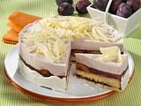 Weiße Schoko-Cassis-Torte Rezept