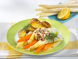 Weißer Spargel zu Matjes-Tatar Rezept