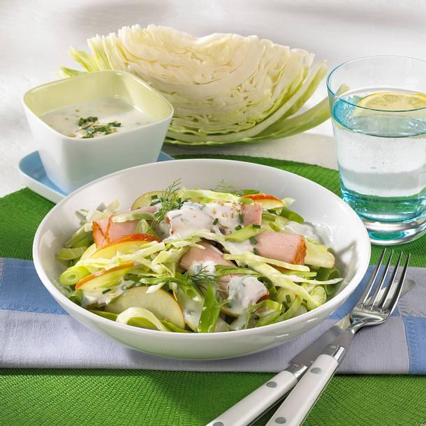 Weißkohlsalat mit Kasseler Rezept