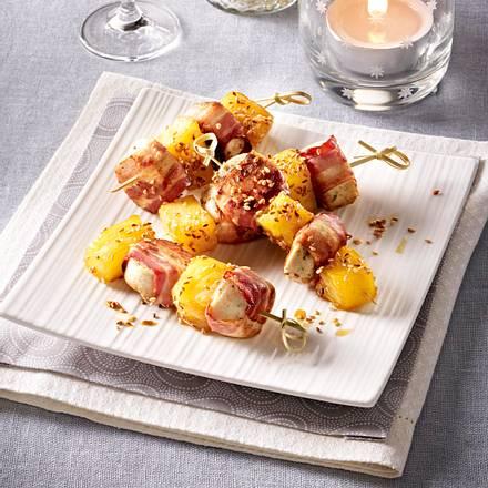Weißwurst-Ananas Spieße Rezept