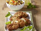 Wiener Schnitzel mit Gemüse-Nudeln Rezept