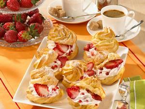 Windbeutel mit Erdbeersahne (Diabetiker) Rezept