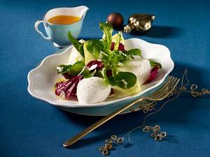 Wintersalat mit Forellennocken Rezept