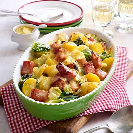 Wirsing-Kartoffel-Auflauf mit Kasseler Rezept
