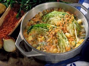 Wirsing mit Kartoffelsoße Rezept
