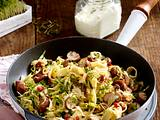 Wirsing-Nudeln mit Pilzen und Speck Rezept