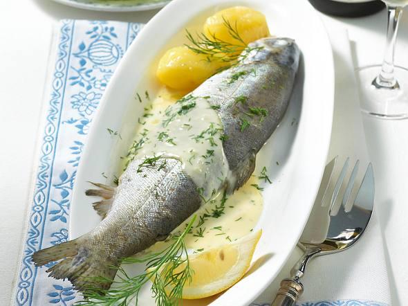 Wispertal-Forelle in Rieslingrahm Rezept