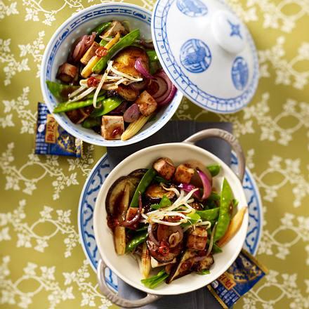 Wok-Gemüse mit Tofu Rezept