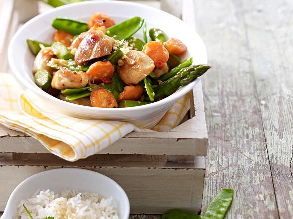 Wokgemüse mit Hähnchenfilet Rezept