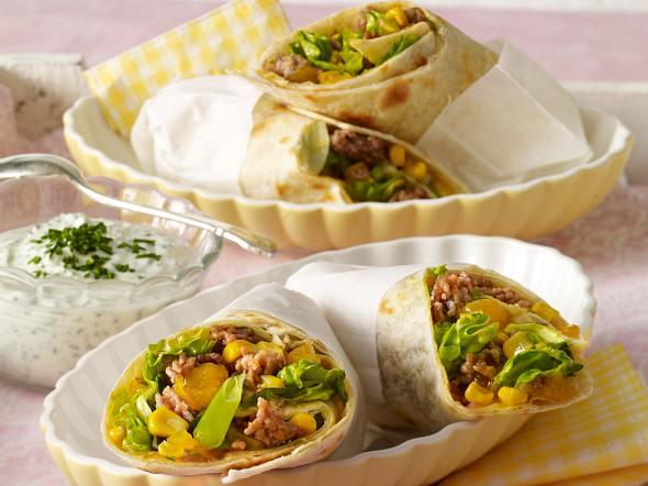 Wraps mit Mangocurry Rezept