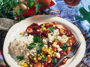 Würstchen-Chili mit Mais Rezept