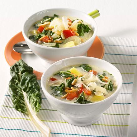 Würzige Mangold-Suppe Rezept