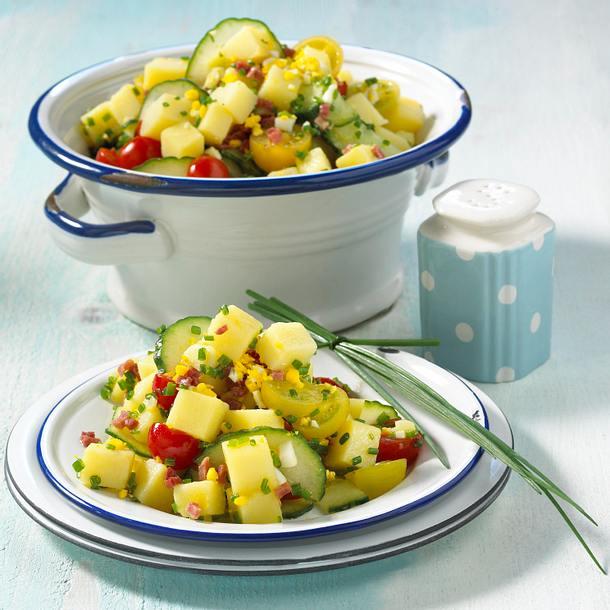 Würziger Kartoffel-Speck-Salat Rezept