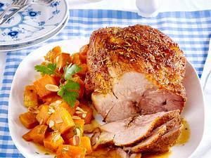 Würziger Schweinebraten auf Süßkartoffeln Rezept