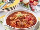 Würziges Tomaten-Gulasch Rezept