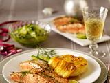 Würzlachs zu Meerrettich-Kartoffel-Gratin und Gurkensalat Rezept
