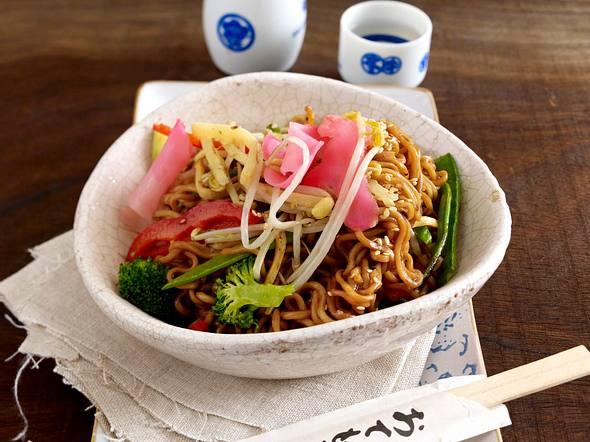 Yakisoba (Gebratene Nudeln) Rezept