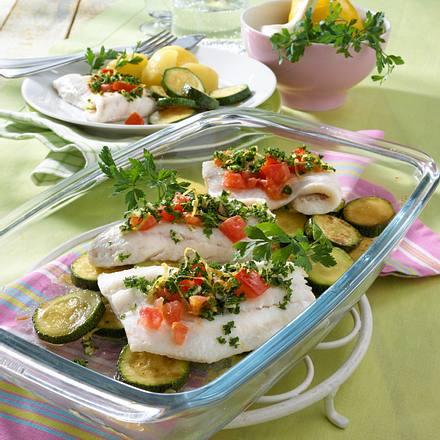 Zander aus dem Ofen mit Gremolata Rezept