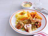 Zarte Putenschnitzel mit Honig-Senf-Füllung Rezept