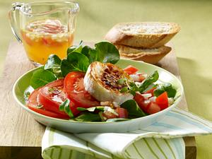 Ziegenkäsetaler auf Feldsalat Rezept