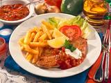 Zigeunerschnitzel mit Pommes frites Rezept