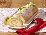 Zitronen-Biskuitrolle Rezept
