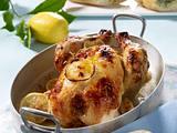 Zitronen-Hähnchen mit Kräuter-Baguette Rezept