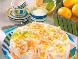 Zitronen-Joghurttorte mit Aprikosen Rezept