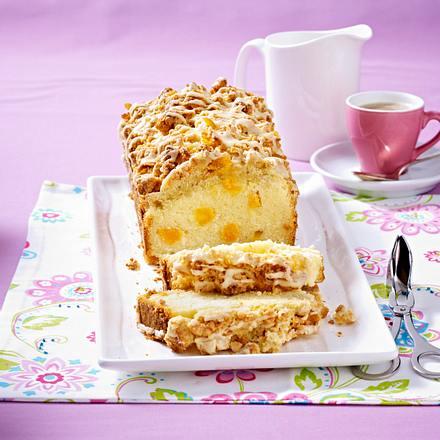zitronen kastenkuchen mit glasierten cornflakes butter streusel rezept lecker. Black Bedroom Furniture Sets. Home Design Ideas