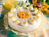 Zitronen-Quark-Torte mit Mandarinen Rezept