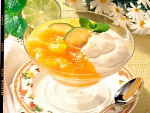 Zitronencreme mit Aprikosensoße Rezept
