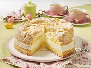 Zitronencreme-Torte mit Baiserhaube Rezept