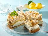 Zitronencreme-Torte mit Mandel-Baiser-Haube Rezept