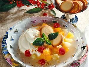 Zitronenquark mit Früchten Rezept