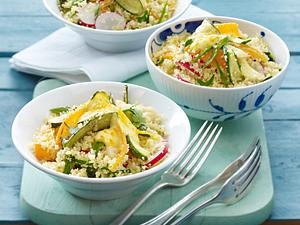 Zucchini-Couscoussalat Rezept