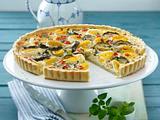 Zucchini-Eier-Quiche mit Käsecreme Rezept