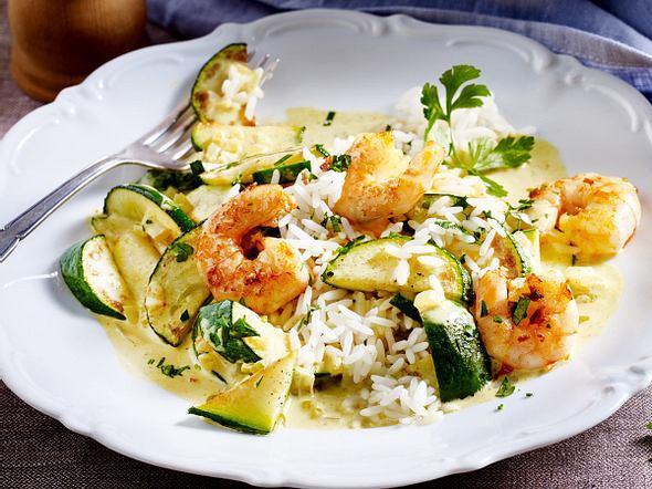 Zucchini-Garnelen-Curry Rezept