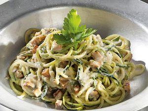 Zucchini-Spaghetti alla carbonara Rezept