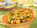 Zucchini und Kartoffeln vom Blech Rezept