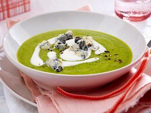 Zucchinicremesuppe mit Sahne und Gorgonzola Rezept