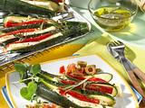 Zucchinifächer mit Schafskäse Rezept