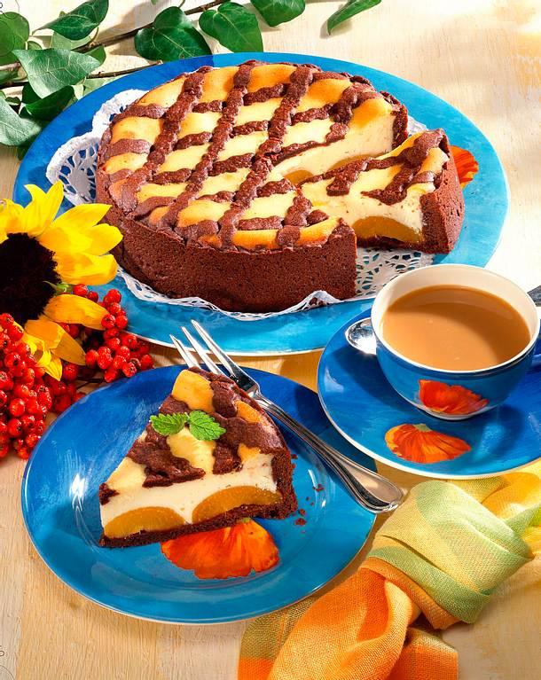 zupfkuchen mit aprikosen und schokogitter rezept lecker